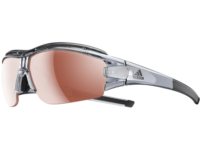 adidas Evil Eye Halfrim Pro Bril L, grey trans shiny/lst active silver